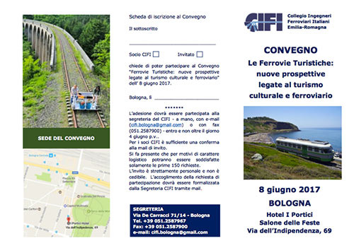 Convegno sulle Ferrovie Turistiche, a Bologna l'8 giugno