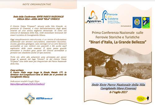 """Prima Conferenza Nazionale sulle Ferrovie Storiche e Turistiche  """"Binari d'Italia, La Grande Bellezza"""""""