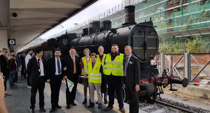 Squadra Operativa Friulana ARSMS in servizio sul treno storico istituzionale Trieste - Nova Gorica