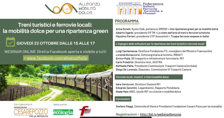 Link videoconferenza Amodo-FIFTM ferrovie turistiche e secondarie e presentazione presidente Sgarbi