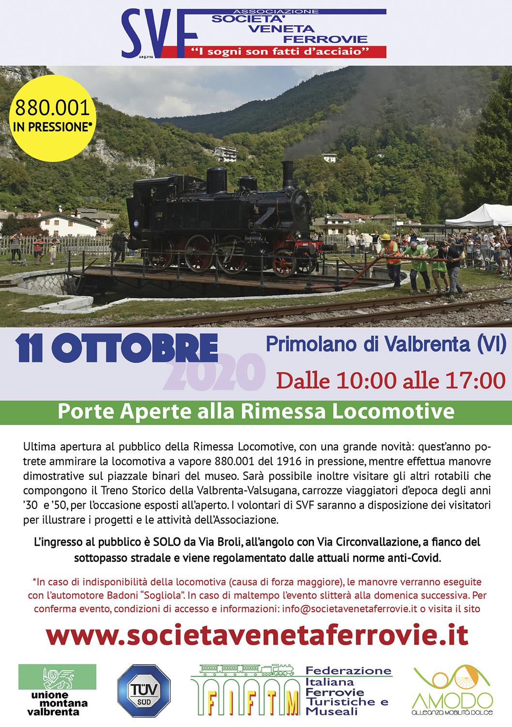 Porte Aperte alla RL di Primolano l'11 ottobre 2020