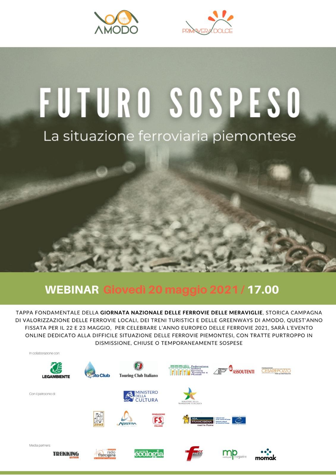 Primavera della Mobilità Dolce AMODO  Convegno 20 maggio sulle ferrovie sospese in Piemonte